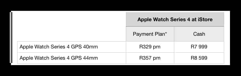 Apple Watch Series 4 payment plan