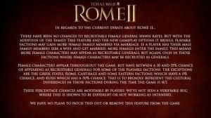 Total War Rome 2 female generals