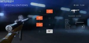 Battlefield V weapons upgrades
