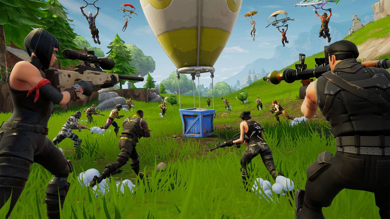 Fortnite's concurrent player count