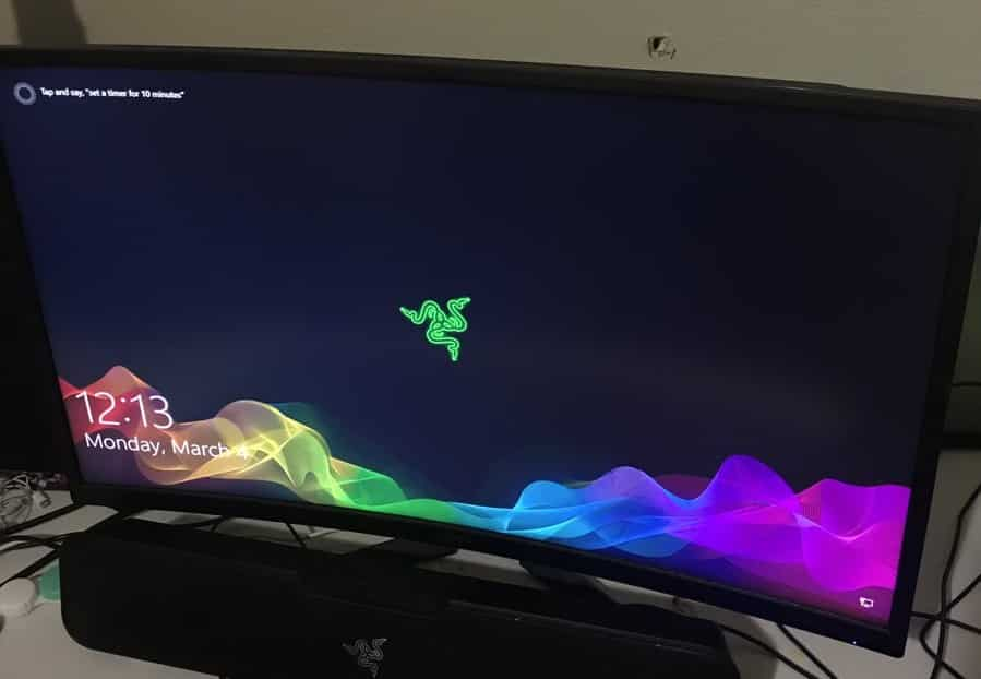 gaming monitor stopped a bullet