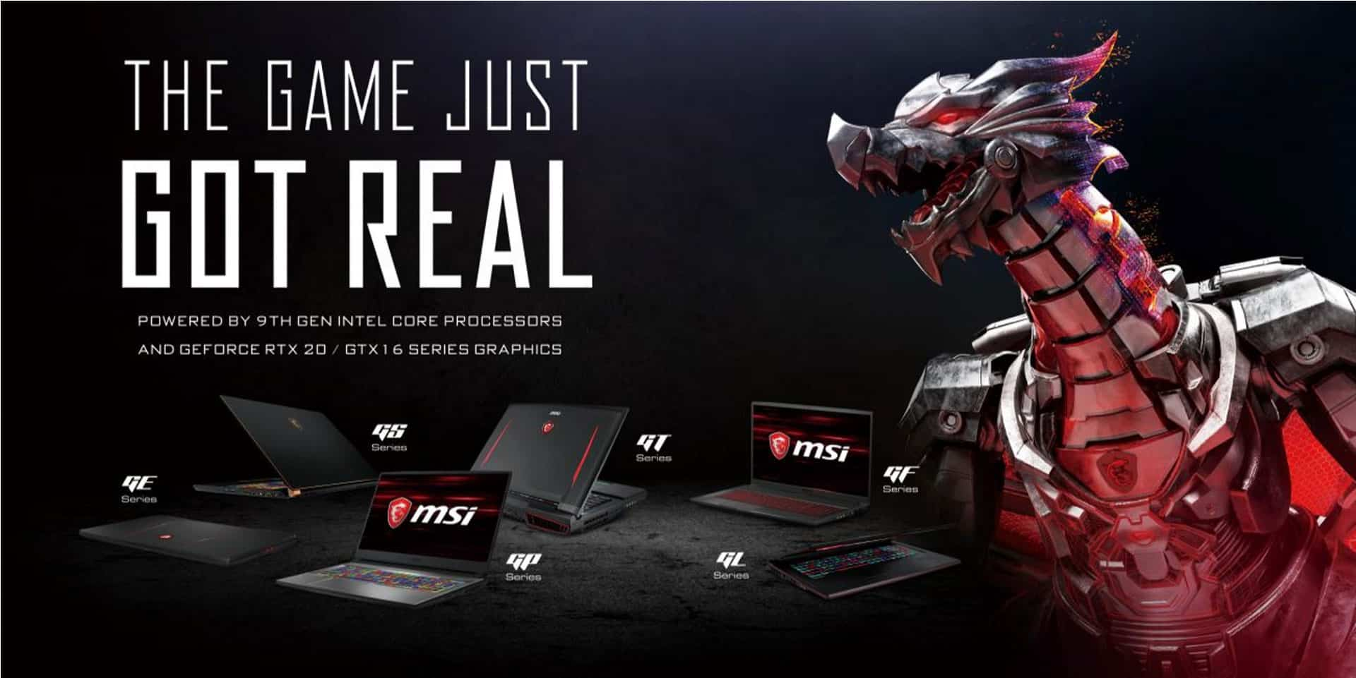 MSI RTX Gaming Laptops