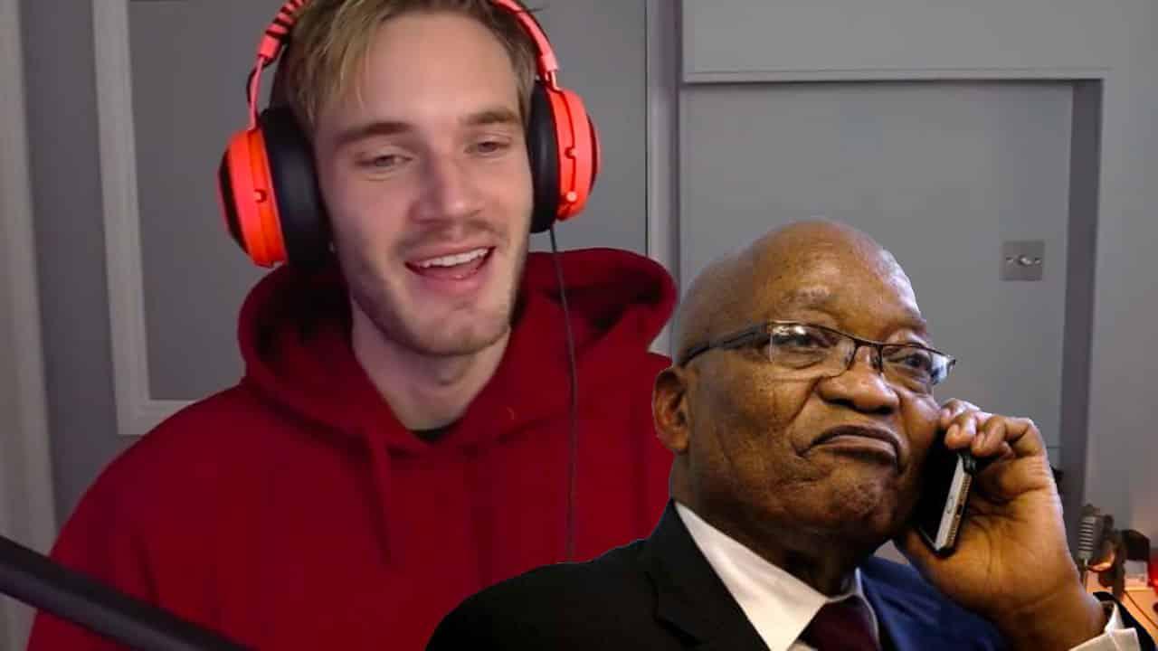 PewDiePie Jacob Zuma
