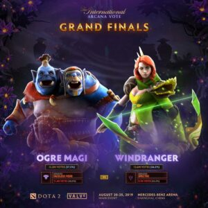 The Dota 2 Arcana Vote Finalists - Ogre Magi Versus Windranger