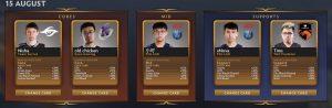 Dota 2 Fantasy Challenge Roster