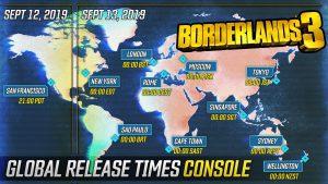 Borderlands 3 launch times preload gearbox