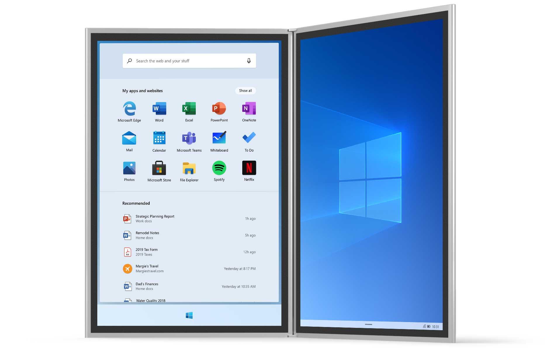 Microsoft Windows 10X Duo Phone Surface Neo