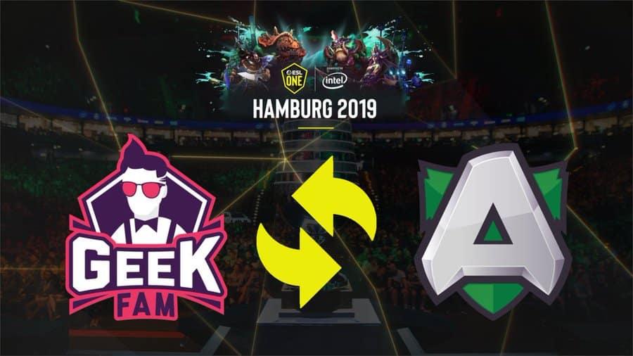 ESL One Hamburg 2019 Dota 2 Alliance Geek Fam