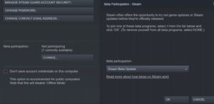 Steam Library small mode view Valve Steam Beta Preview
