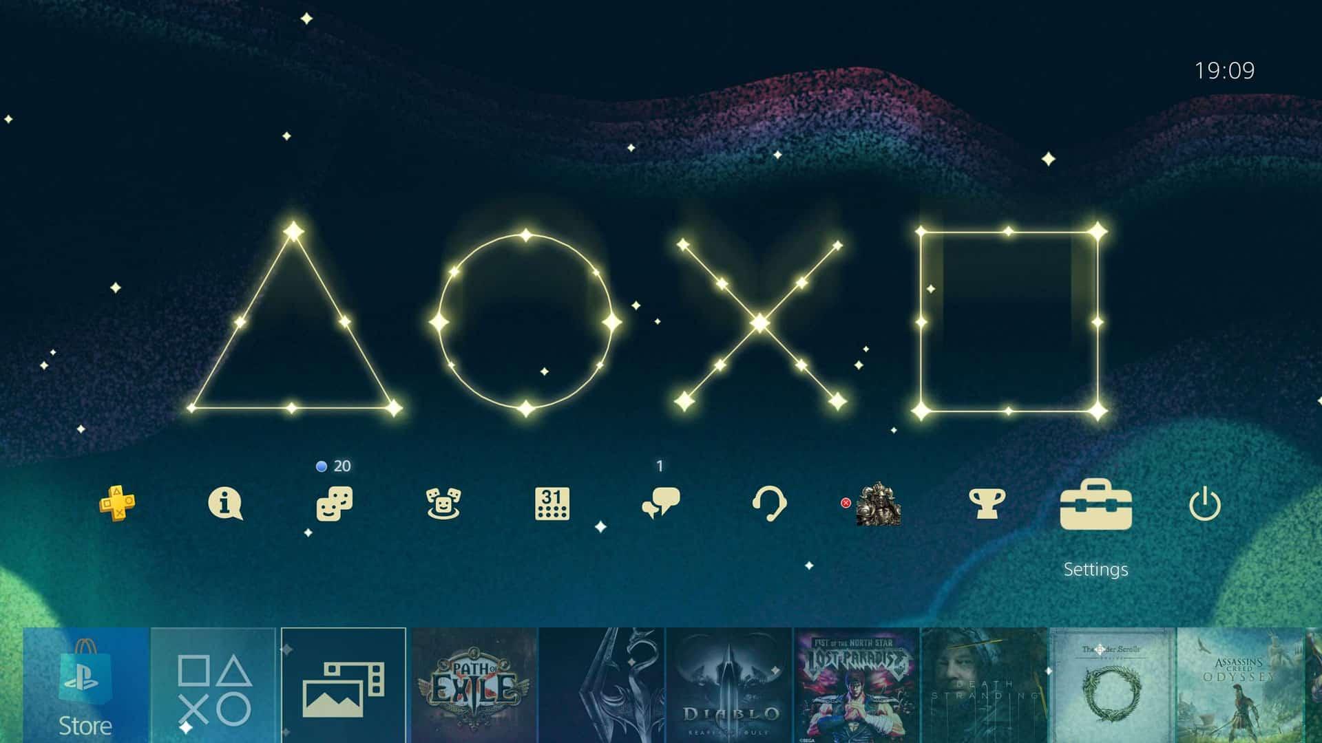 PS4 Christmas Theme