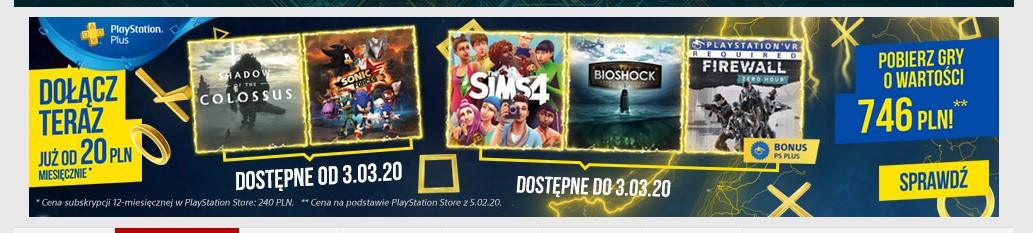 PlayStation Plus March 2020