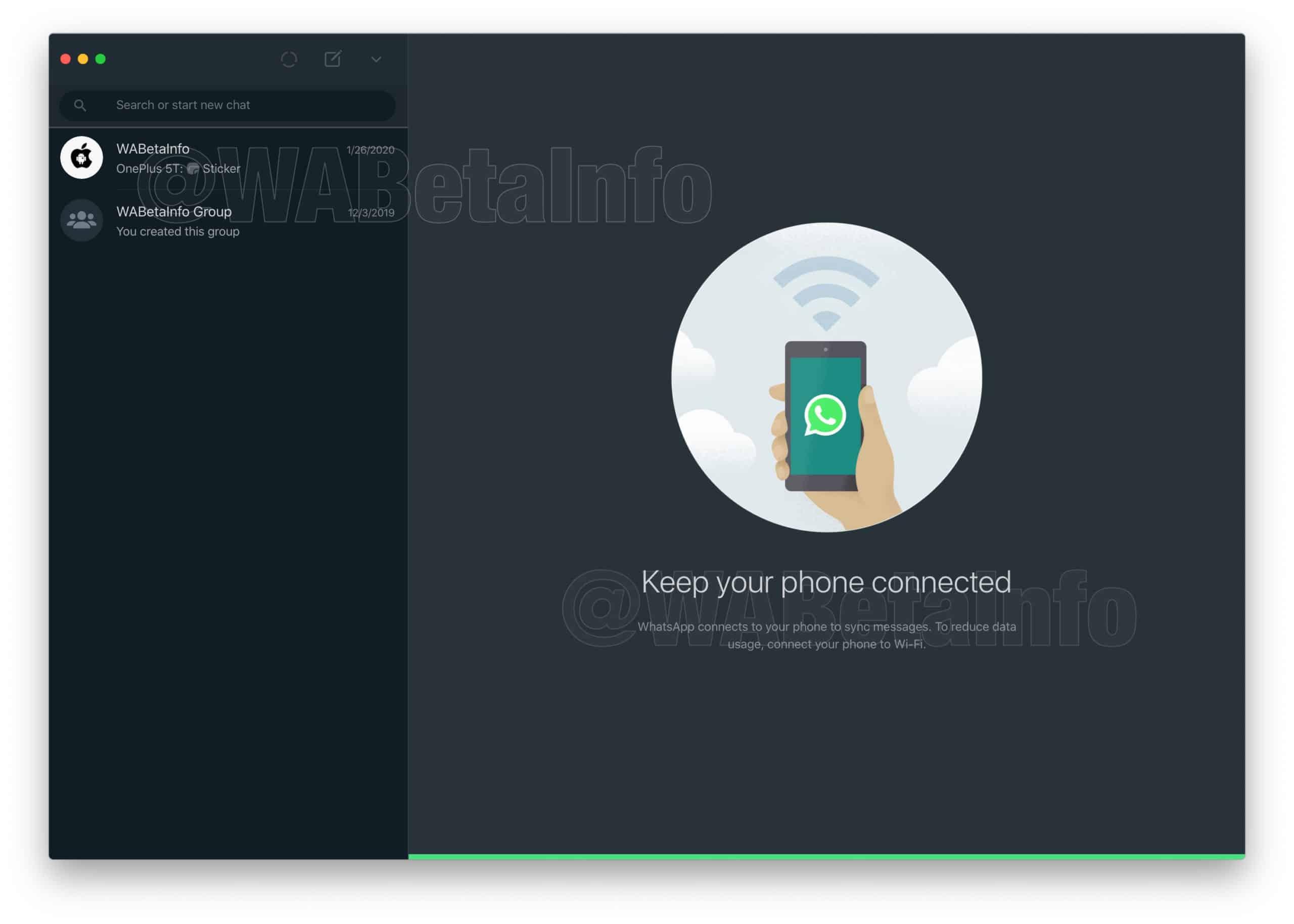 WhatsApp Dark Mode iOS Desktop