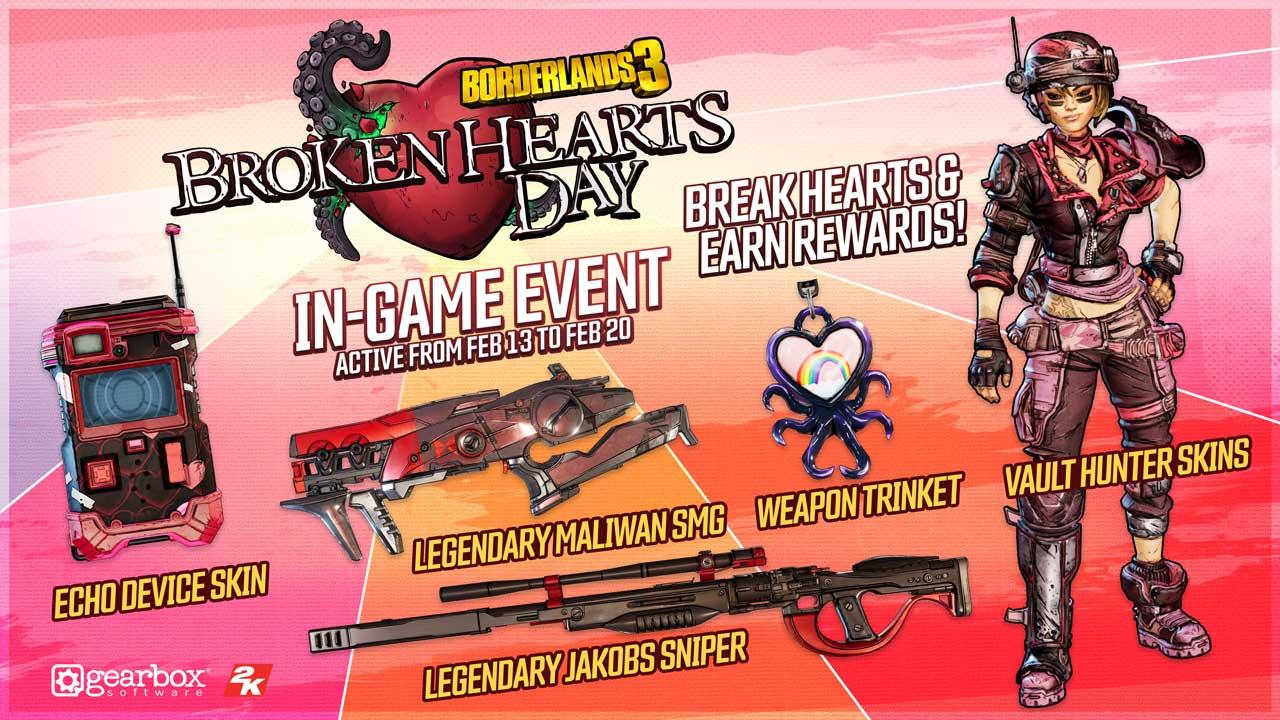 Borderlands 3 Level Cap Broken Hearts Day