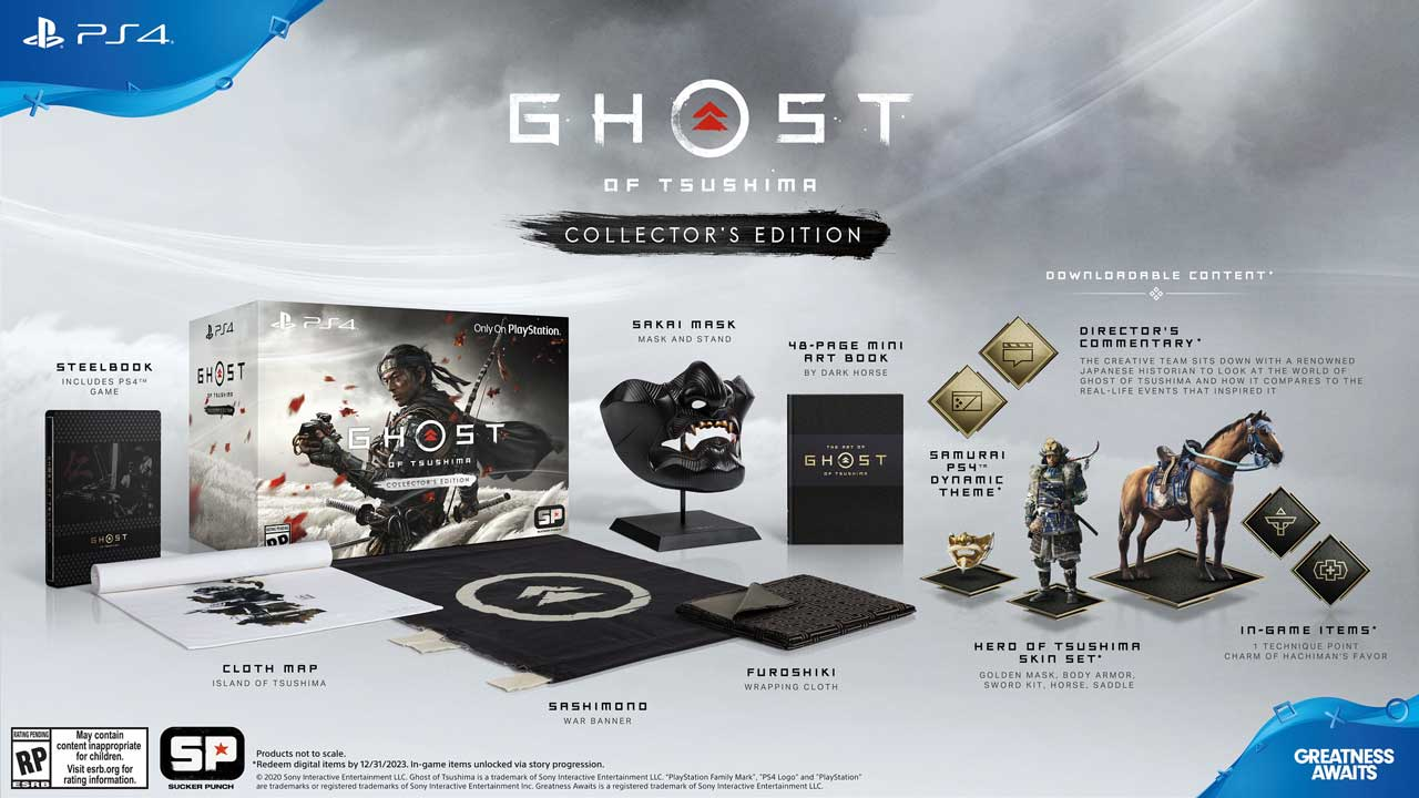 PS4 Ghost of Tsushima Release Date Collectors Editions