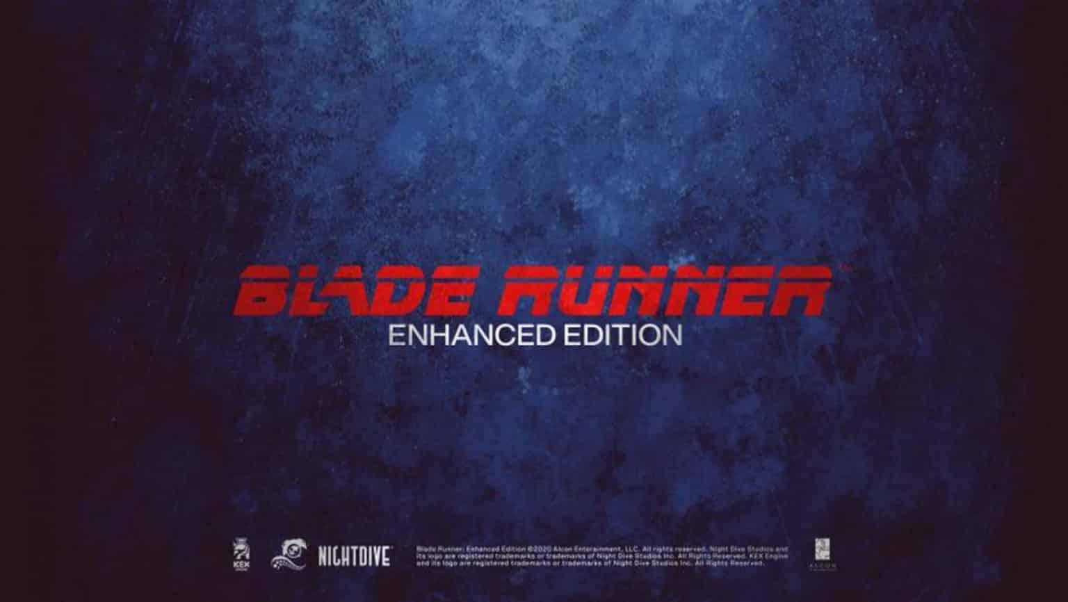 Blade Runner Enhanced Edition Nightdive Studios Westwood Studios Ridley Scott