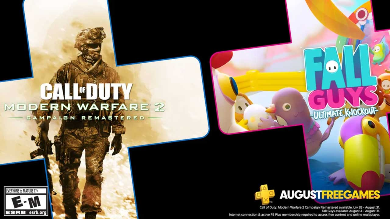 August PlayStation Plus August Fall Guys Call of Duty