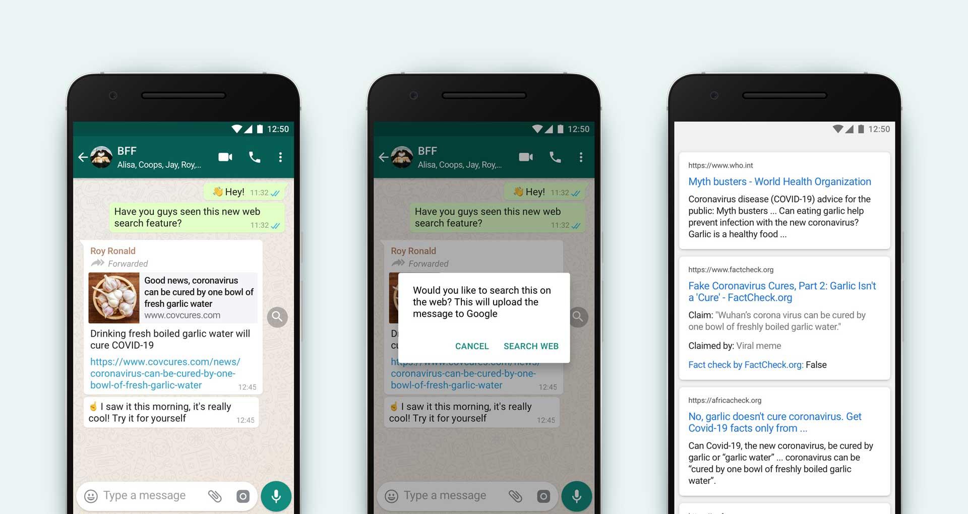 WhatsApp Search Feature Fake news