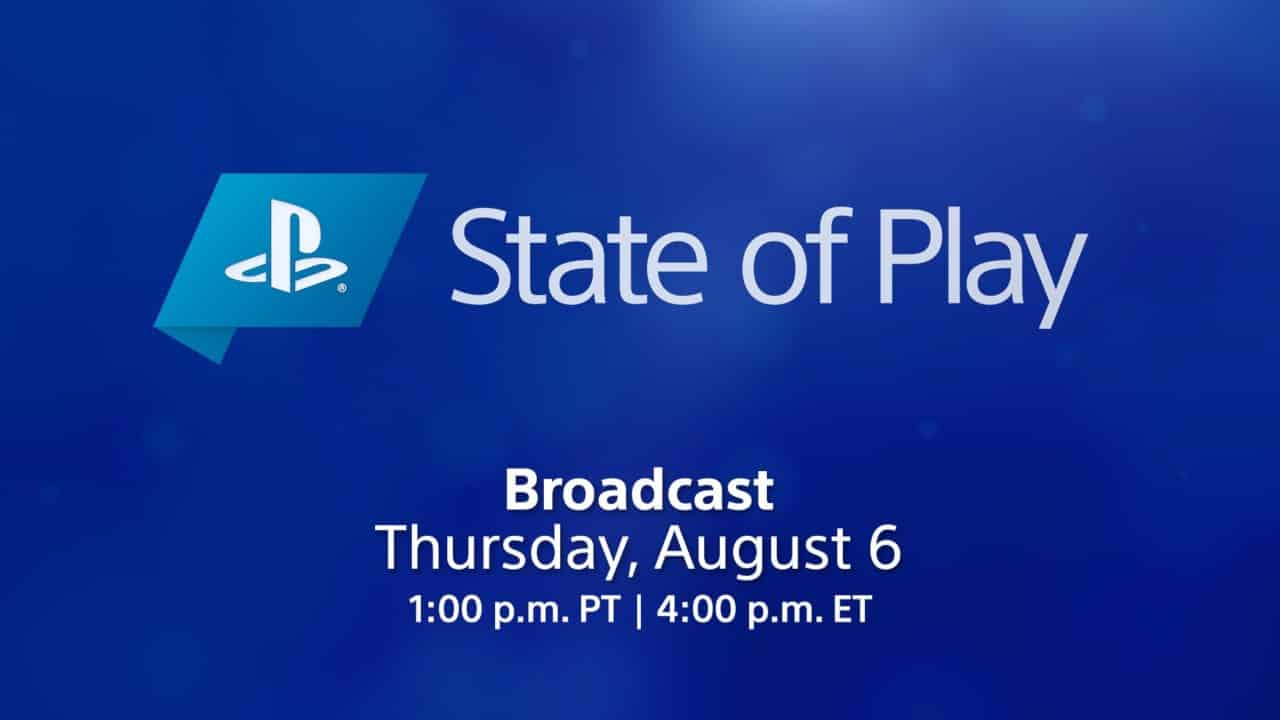 PS5 PlayStation 5 Sony August State of Play