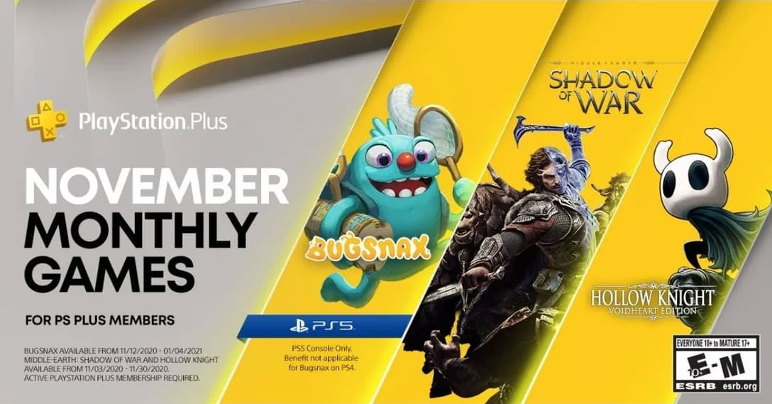 November PlayStation Plus PS4 PS5 Bugsnax
