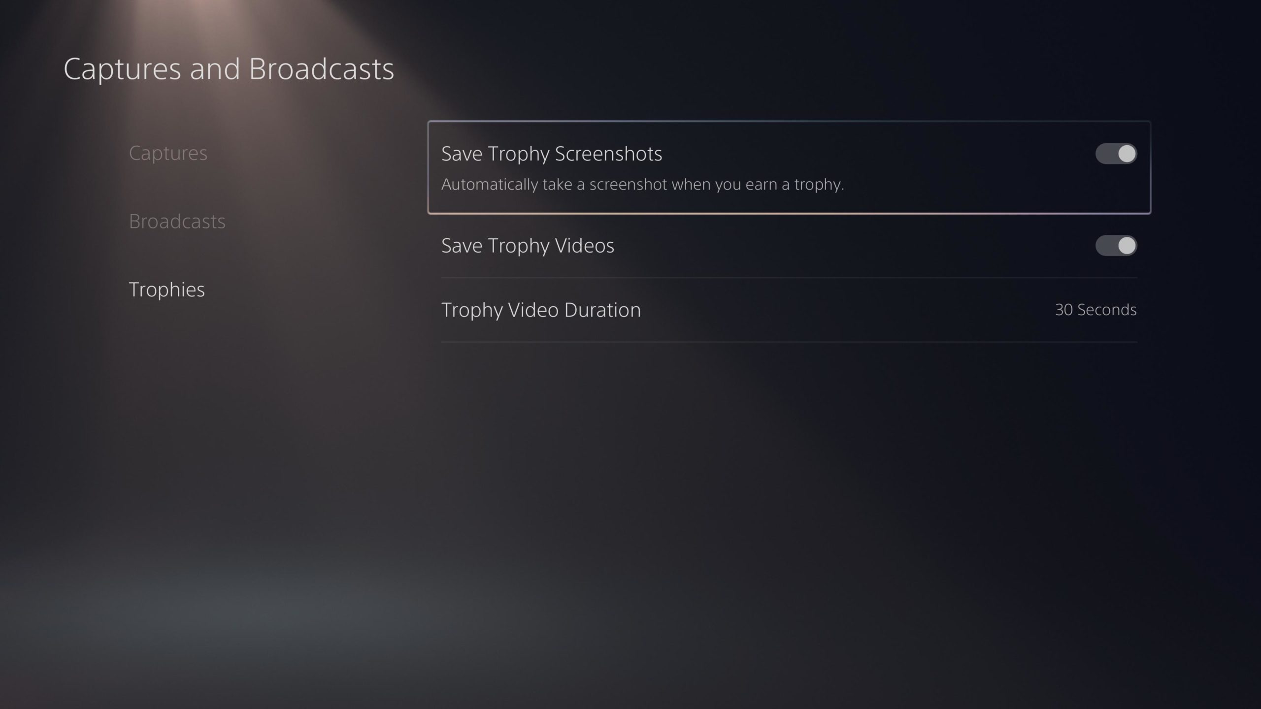 PS5 Trophy Recording