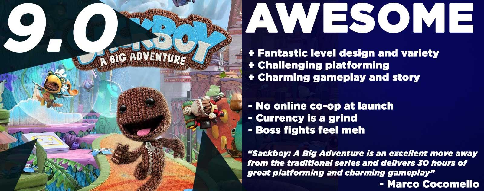 Sackboy: A Big Adventure Review PS5