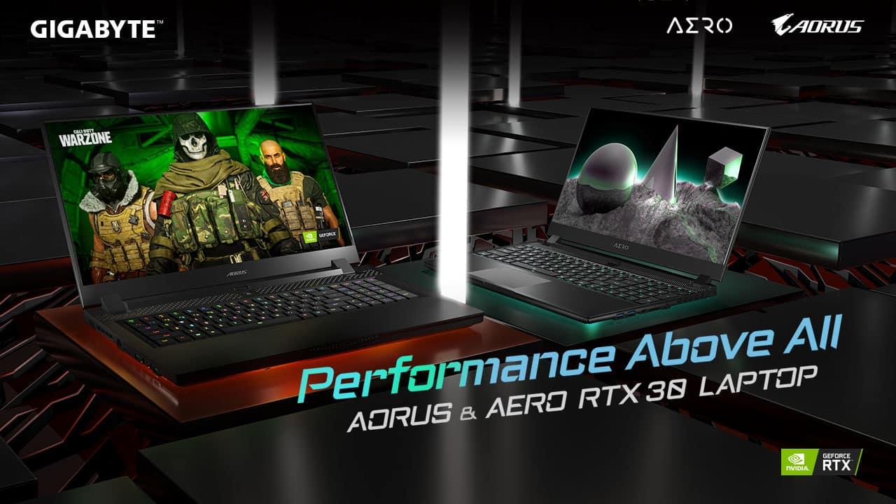 Gigabyte Aorus Aero 17G 15G 15P RTX 3080