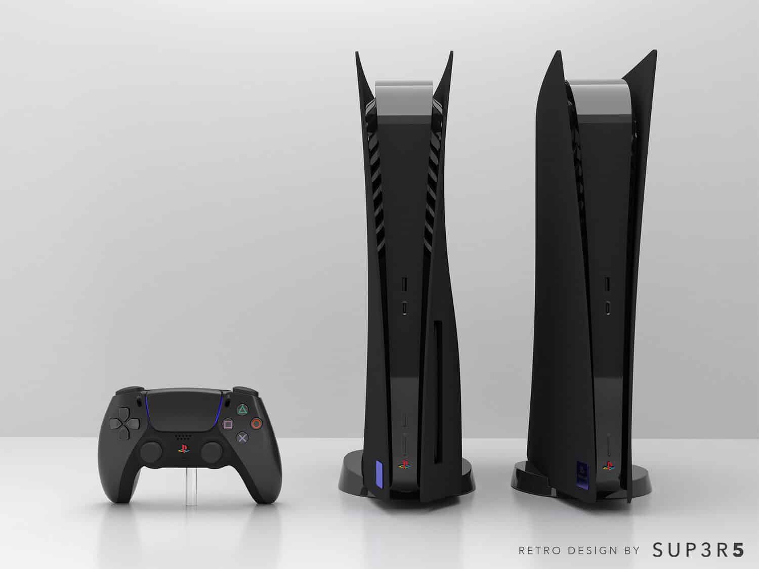 PS2-Themed Black PS5 Console