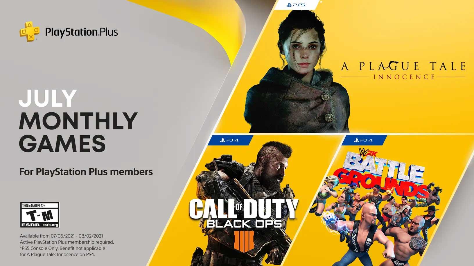 July PlayStation Plus