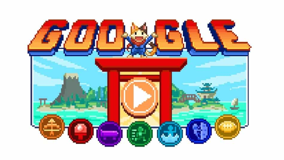 Tokyo Olympic Games Google Doodle