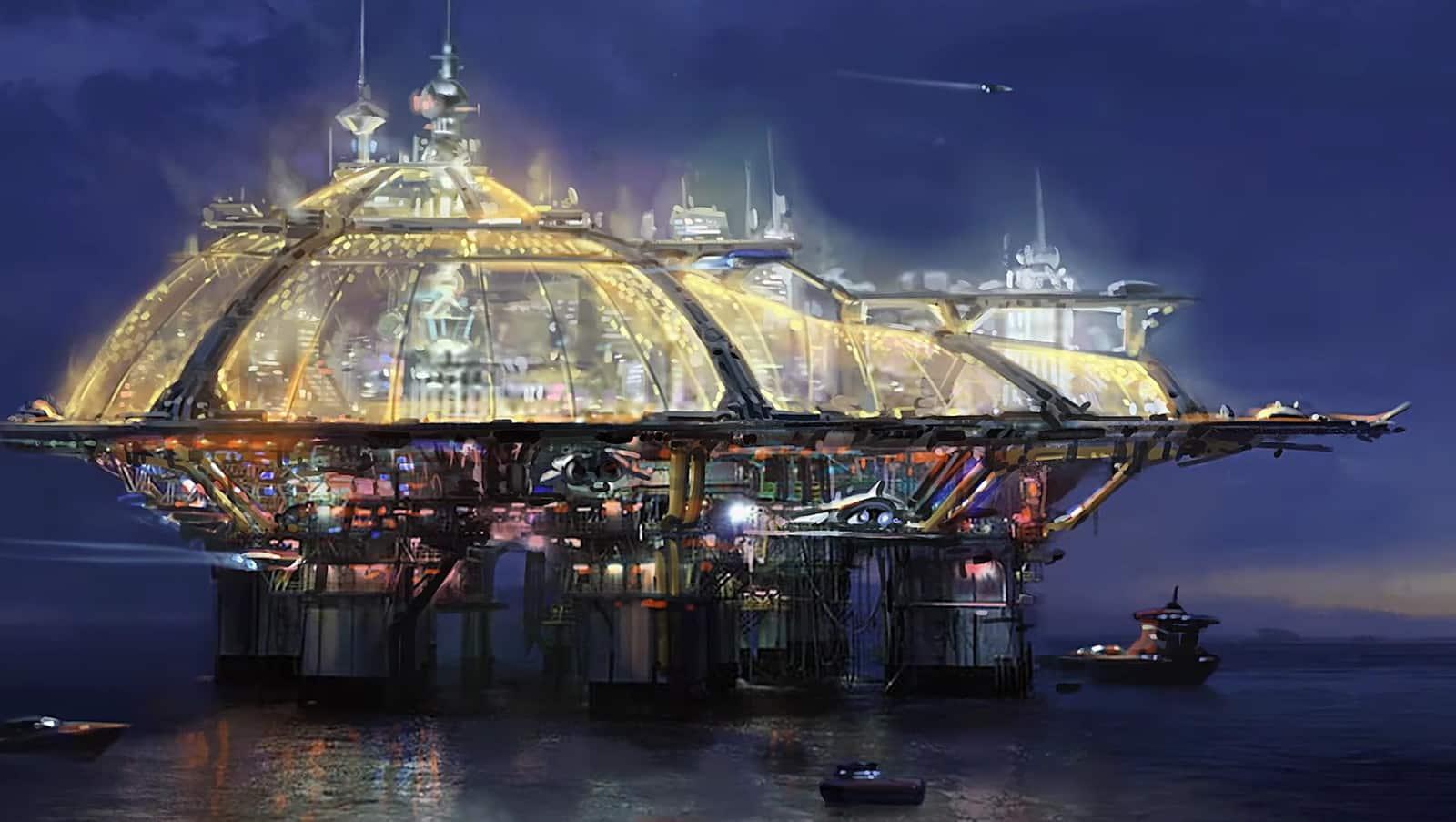 Starfield New Atlantis Akila Neon Cities and Locations