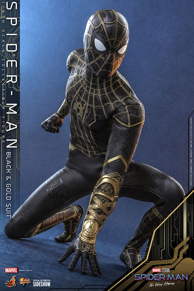 Spider-Man: No Way Home Gold Costume Hot Toys