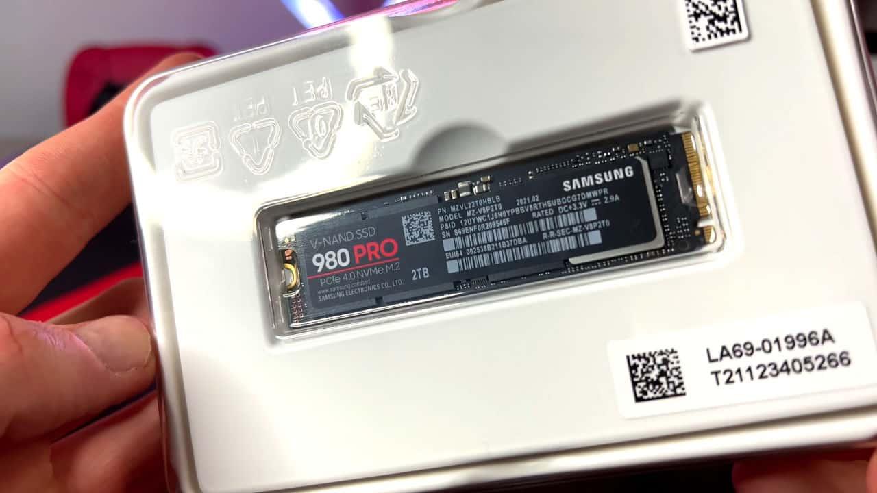 Samsung 980 Pro SSD Heatsink PS5